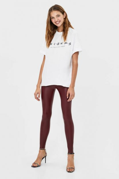 Pantaloni legging elastici Bershka