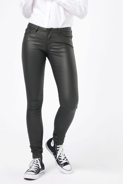 Noisy May Jeans 'EVE LW DELUXE COATED'  negru