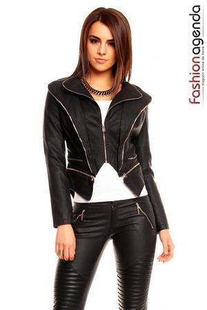 Jacheta din Piele Tandy Black