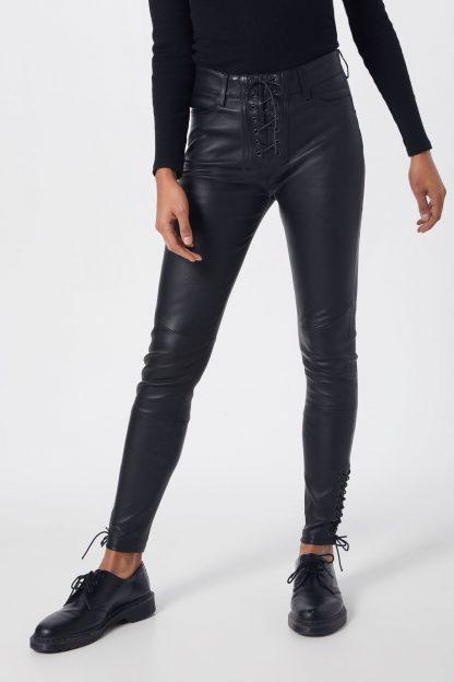 Tigha Pantaloni 'Polly'  negru