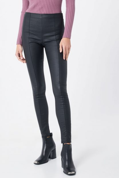 ONLY Leggings 'onlIZABEL MID SK COATED PNT'  negru