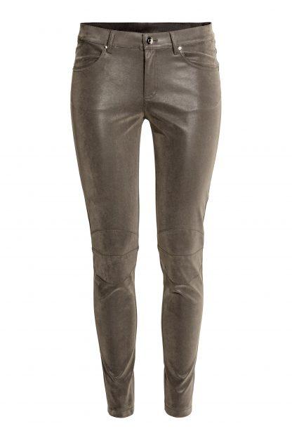 Pantaloni piele H&M - Pantaloni elastici