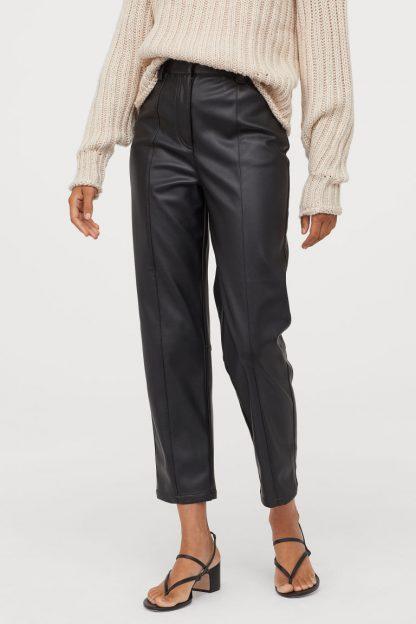 Pantaloni piele H&M - Pantaloni