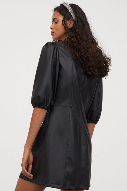 Rochii piele H&M - Rochie cu mâneci bufante