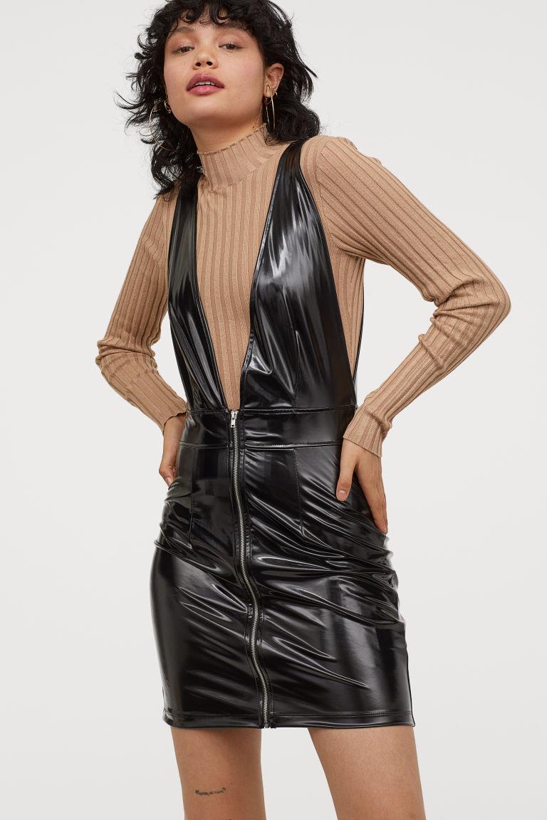 imagini detaliate vânzare la cald reducere Rochie piele H&M - Rochie-sarafan | LeatherWear