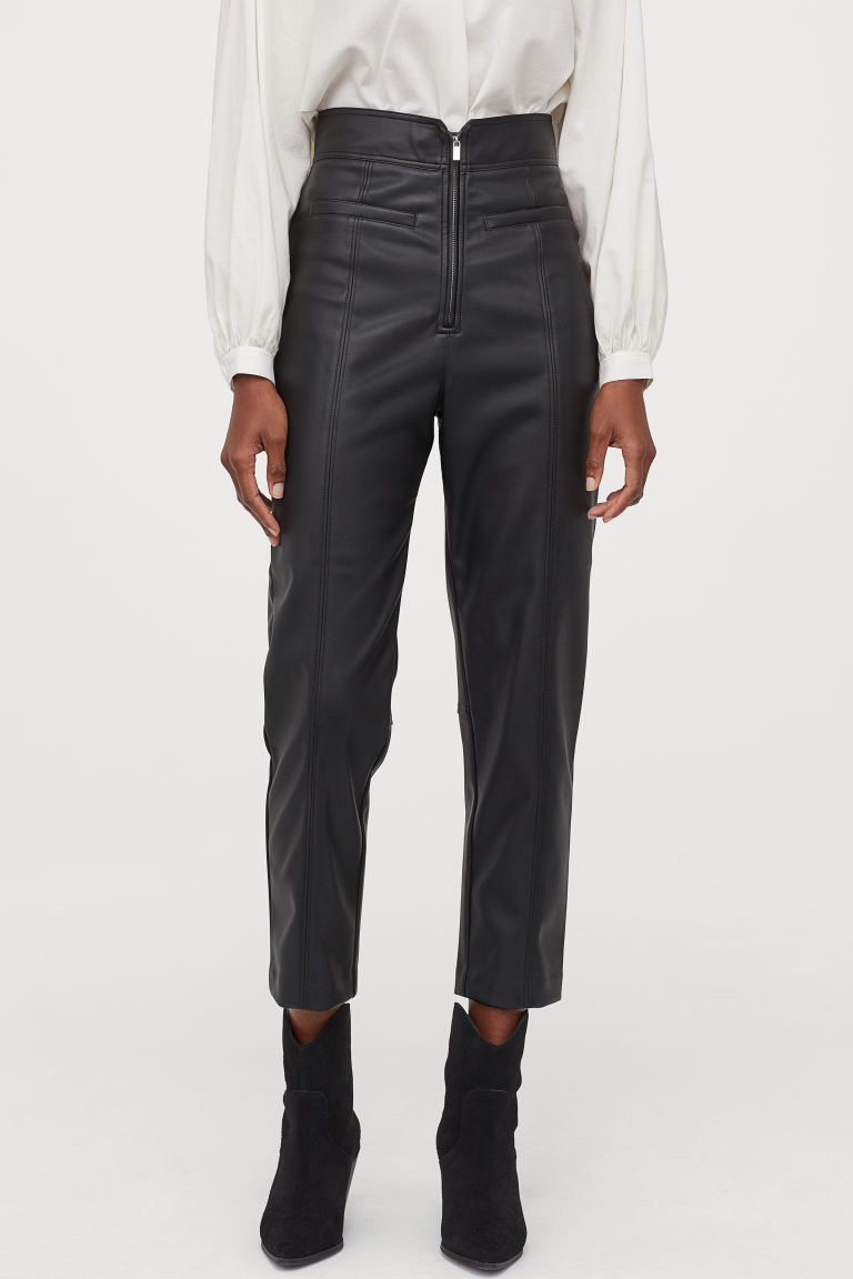 Pantaloni piele H&M - Pantaloni de imitație de piele