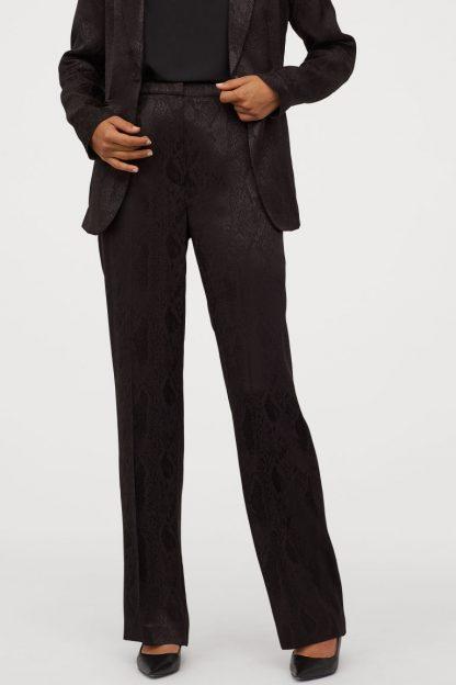 Pantaloni piele H&M - Pantaloni din țesătură jacard