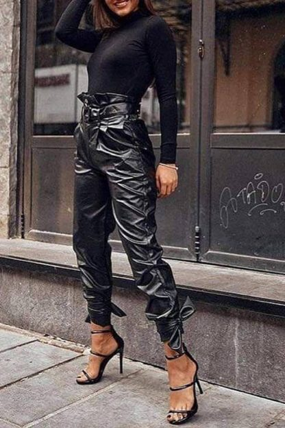 Pantaloni imitatie piele PENTY