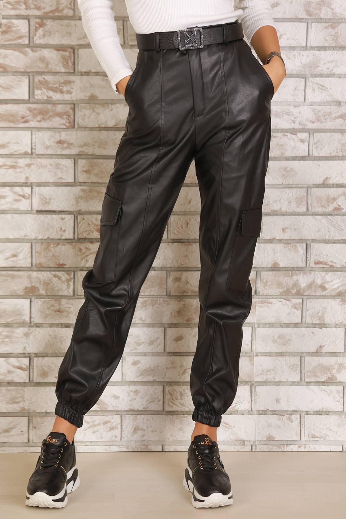 Pantaloni imitatie piele DESPINA